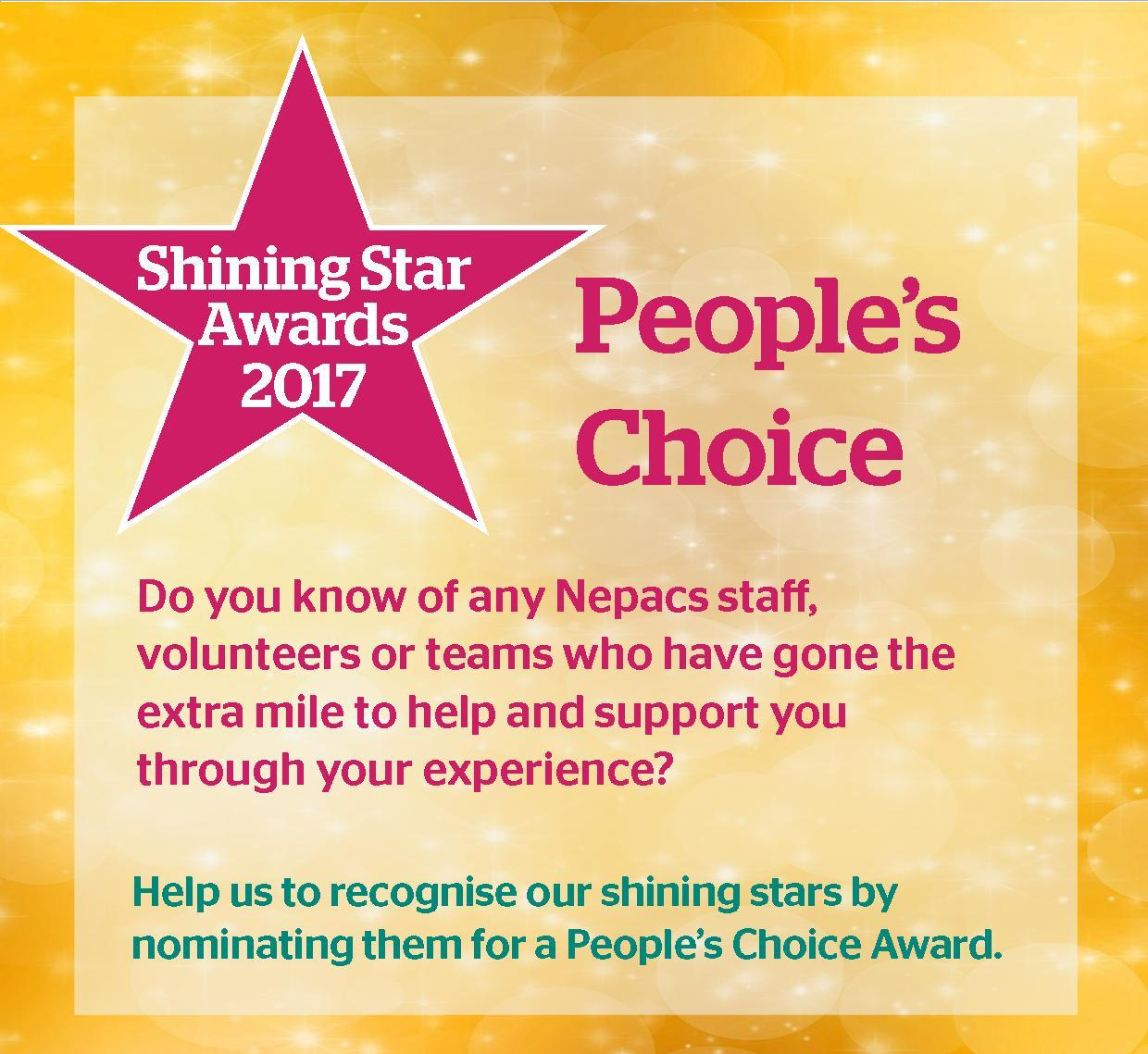 Nominate your Nepacs Shining Stars for 2017